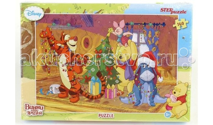 Step Puzzle Пазл Медвежонок Винни Праздник 160 элементов