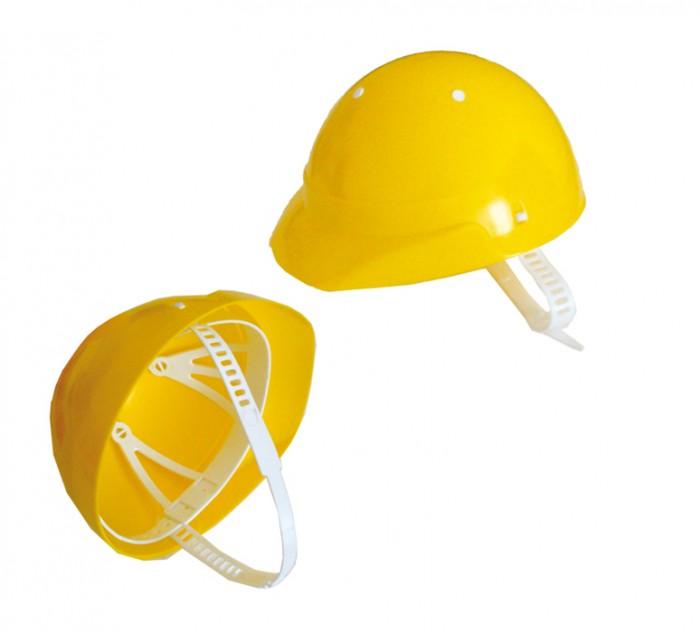 Совтехстром Игрушечная КаскаИгрушечная КаскаСовтехстром Игрушечная Каска - как раз такой атрибут, без которого нельзя находиться на стройплощадке. Она выполнена в ярком желтом цевте. Имеются регулирующиеся ремешки вокруг шеи.  Размер игрушки: 22.5 х 19.5 х 13 см.<br>
