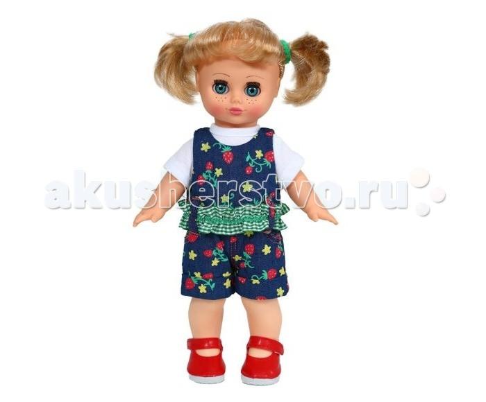Весна Кукла Настя Весна 2 озвученнаяКукла Настя Весна 2 озвученнаяКукла Настя одета в трикотажную футболку, джинсовый комбинезона и туфли. Глаза вставные закрывающиеся. Тело куклы пропорционально. Ручки и голова выполнены из эластичного, приятного на ощупь винила, а туловище и ноги из пластмассы.   При нажатии на звуковое устройство, вставленное в спинку, кукла произносит фразы.  Рост куклы - 30 см.<br>
