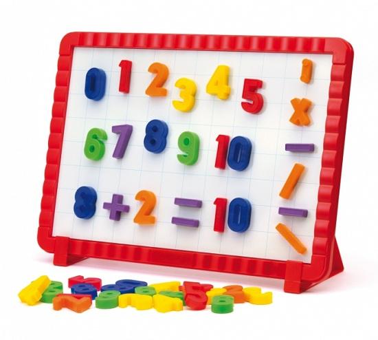 Доски и мольберты Quercetti Математическая магнитная доска (48 элементов)