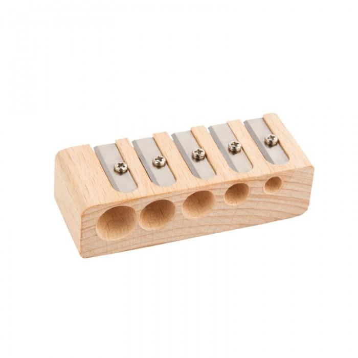 Lejoys Точилка канцелярская деревянная для пяти различных в диаметре карандашей