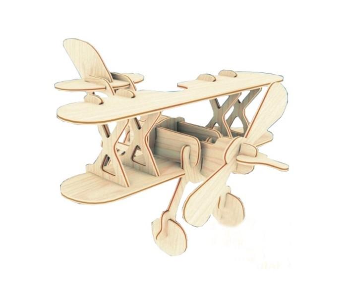 Конструктор МДИ АэропланАэропланМДИ Аэроплан П002                       Деревянная модель Аэроплан представляет собой конструктор, который собирается без помощи клея. В завершенном виде головоломка является миниатюрной копией самолета с пропеллером и двойными крыльями, которая имеет устойчивую конструкцию благодаря выставленными шасси. Летательный аппарат станет еще интереснее, если раскрасить его акварелью или гуашью.<br>