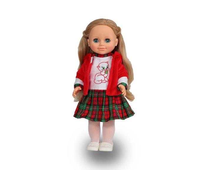 Весна Кукла Анна 14 озвученная 42 смКукла Анна 14 озвученная 42 смКукла Анна одета в платье с клетчатой юбкой и красную кофту с капюшоном. На ногах у Анны - колготки и туфли. Волосы куклы сделаны из качественного нейлона, похожие на натуральные, можно завивать, расчесывать, укладывать в разные прически, меняя образ куклы. Ручки и голова выполнены из эластичного, приятного на ощупь винила, а туловище и ноги из пластмассы. Глаза вставные закрывающиеся.  Кукла озвученная, начинает говорить, если нажать ей на спинку.  Рост - 42 см.<br>