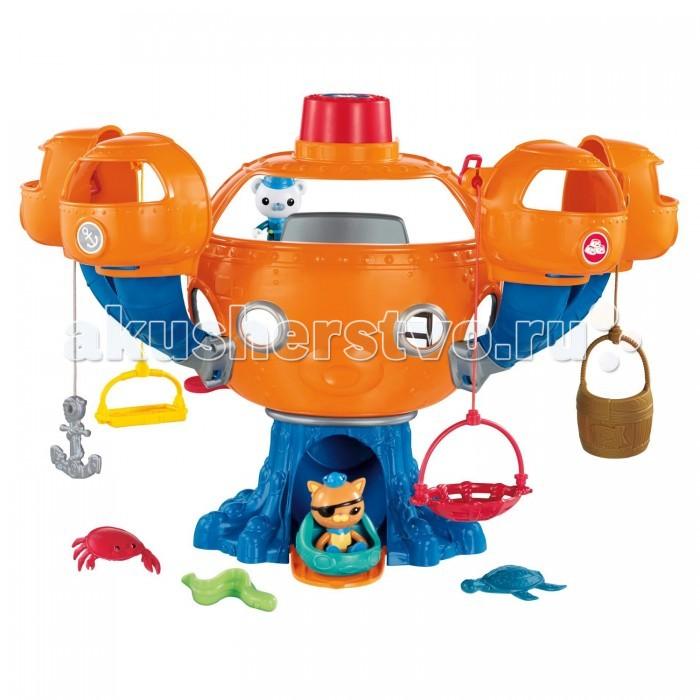 Fisher Price Mattel Игровой набор Подводная база ОктоподMattel Игровой набор Подводная база ОктоподИгровой набор Октопод Fisher-Price из м/ф Октонавты - это комплект из подводной базы, спасательных принадлежностей и персонажей, которые будут спасать и которых будут спасать. Такая игра понравится многим поклонникам серии Octonauts или просто детям, которые любят по-настоящему крутые игрушки!  Главные герои игры - Барнаклс и Квази - два веселых отважных зверька, которые занимаются спасением своих друзей. С данным набором игрок сможет спасать различных морских обитателей, благодаря специальной подводной базе Октонавтов, входящей в комплект. Она оборудована четырьмя приспособлениями, на которые можно посадить персонажей и поднять из зоны опасности!   Один из героев может остаться на базе, в то время как другой сядет в лодку и будет помогать ему снизу. У игрушки имеется сирена, которую можно включать, оповещая Барнаклса и Квази о том, что настало время приступить к спасательной операции.  Набор выполнен очень качественно! Все элементы комплекта хорошо детализированы, а яркие цвета игрушек понравятся ребенку. С подводной базой Октопод от Фишер-Прайс можно будет устраивать много игр, и каждый раз это будет что-то новое!<br>