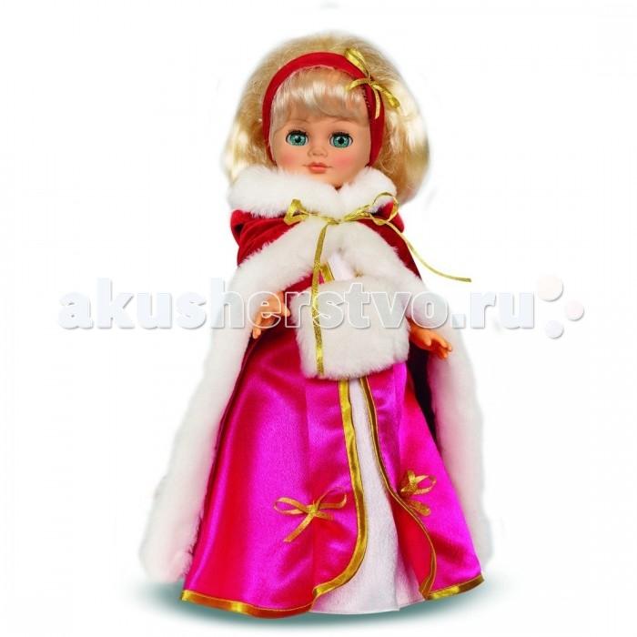 Весна Кукла Герда 3 озвученная 38 смКукла Герда 3 озвученная 38 смКукла Герда - нарядная красавица. В комплект одежды входят платье, яркий плащ с капюшоном, украшенный искусственным мехом, теплая муфта и парчевый ободок. Игрушка оборудована звуковым устройством, благодаря которому играть будет еще интереснее: ведь куколка умеет произносить несколько фраз.  Тело и ноги Герды сделаны из пластика, голова и руки - из винила. Волосы нейлоновые прошивные, глазки закрываются.<br>
