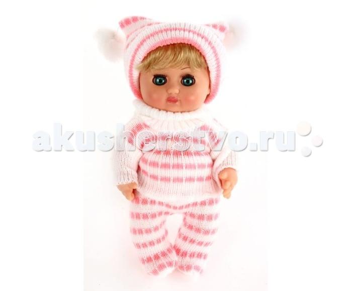 Весна Кукла Любочка 1 21 смКукла Любочка 1 21 смИграя в куклы, дети, как правило, копируют поведение взрослых - общаются теми же словами, так же ухаживают, учат, воспитывают. Поэтому игры в куклы имеют важное значение для взросления ребенка и формирования его психики.   Любочка - это кукла-ребенок, с которой ваш малыш может придумать самые разные игры, моделируя различные ситуации из жизни.  Кукла одета в вязаные штанишки и кофточку, на голове у нее - шапочка.  Высота игрушки - 21 см.<br>