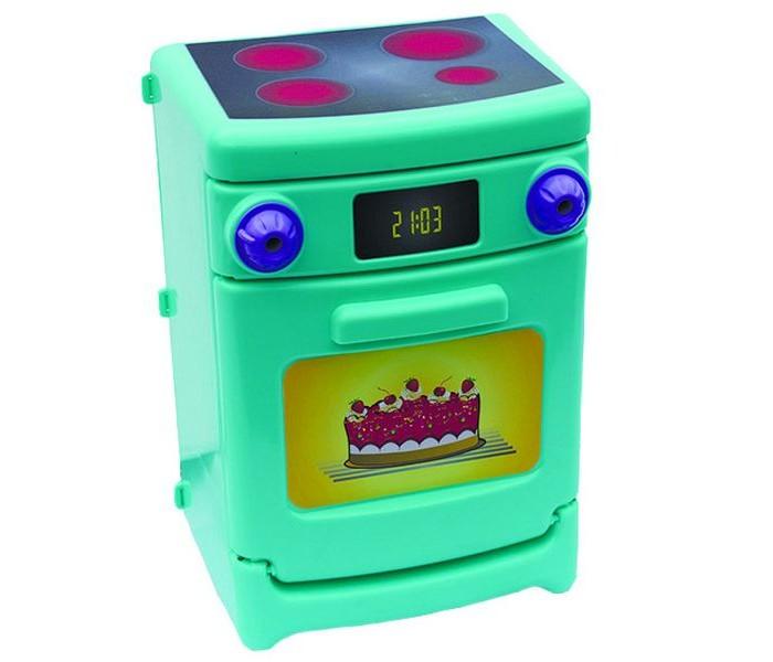 Совтехстром Игрушка ЭлектроплитаИгрушка ЭлектроплитаСовтехстром Игрушка Электроплита не оставит ребенка равнодушным.  Особенности: Дверца печки открывается, поэтому туда можно положить игрушечную еду.  В духовке есть две полочки.  Верхняя часть Электроплиты оформлена под настоящие электроконфорки.  На панели имеется два стилизованных регулятора нагрева.   Размер игрушки: 29 х 22 х 16 см<br>