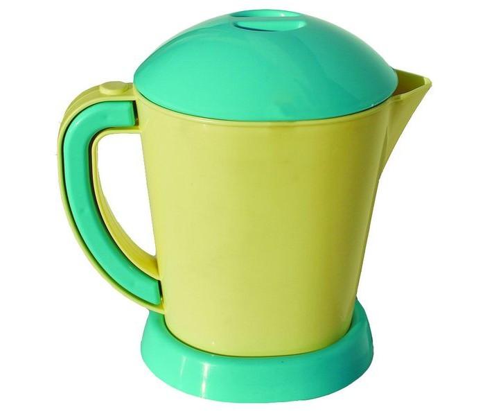 Совтехстром Игрушка ЧайникИгрушка ЧайникСовтехстром Игрушка Чайник порадует маленькую хозяйку и пополнит набор игрушечной бытовой техники.  Особенности: Изготовленный из прочной безопасной пластмассы, чайник от бренда Совтехстром мало отличается от настоящего электрического чайника, имеющегося на каждой кухне, но, естественно, безопасен и не нагревается.  Ребенок сможет использовать чайник в ролевых играх, что поможет освоить навыки работы с кухонной бытовой техникой.<br>
