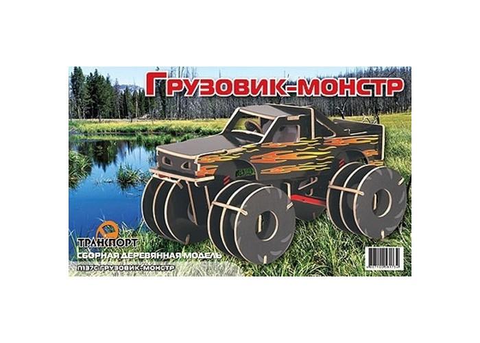Конструктор МДИ Грузовик-монстр цветнойГрузовик-монстр цветнойМДИ Грузовик-монстр цветной П137с                      Окрашенные детали деревянного конструктора из серии Транспорт выдавливаются из фанерных рам и собираются в миниатюрный грузовик, который впечатляет своим внушительным видом, не смотря на компактные размеры. Оригинальную игрушку можно сделать более прочной, воспользовавшись для этого простым клеем.<br>