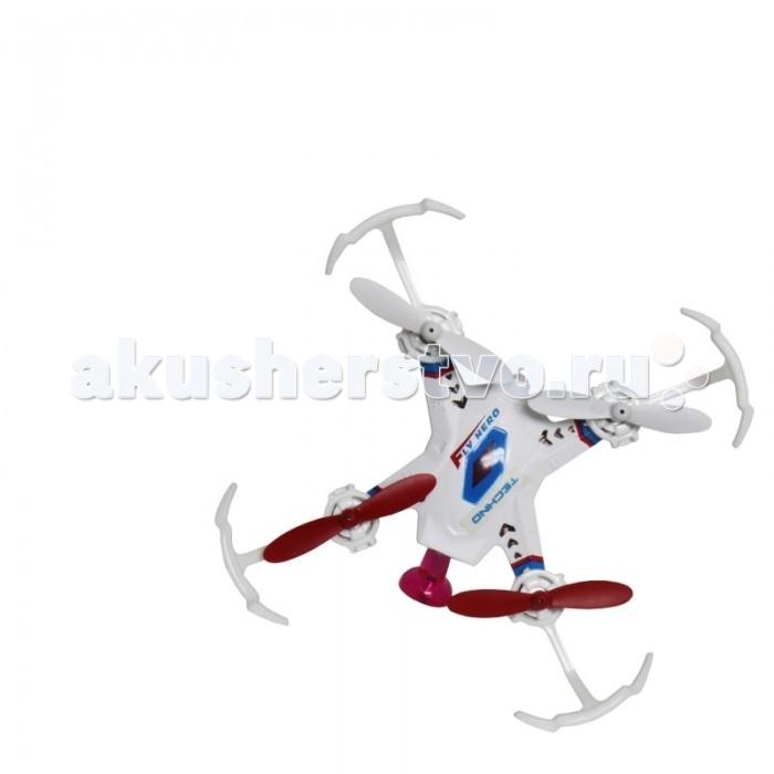 1 Toy Квадрокоптер Gyro-TechnoКвадрокоптер Gyro-Techno1toy Квадрокоптер Gyro-Techno  Небольшой квадрокоптер Gyro Techno размером 4.5 см, выполнен в современном технодизайне, джойстик управления стилизован под традиционный геймерский пульт. Модель обладает рядом уникальных функций, которые значительно упрощают взаимовоздействие с квадрокоптером и делают полёт более увлекательным. Функция визуального тримминга (отладка вращения) позволяет быстро и удобно отрегулировать управление моделью: после завершения процедуры настройки, квадрокоптер помигает диодами. Новая уникальная система управления EASY FLY 360° позволяет уверенно и просто управлять квадрокоптером, где бы он не находился – перед пилотом или за спиной. При помощи этой функции, которая активируется в полёте, квадрокоптер всегда будет следовать в том же направлении, что и джойстик пульта управления. Квадрокоптер имеет 2 скоростных режима.  Габариты: (ДхШхВ) 4.5 х 4.5 х 2 см Частота управления - 2.4 GHz Зарядное устройство: USB-кабель Зарядка - 25 мин, полёт - 8 мин Радиус действия: 30 метров  Аккумулятор: 3.7V/100mAh Запасные лопасти: 4 шт Пульт работает от 3х батареек ААА (батарейки в комплект не входят)  Возраст: от 5 лет<br>