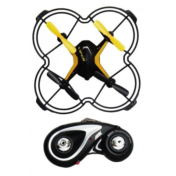 1 Toy Квадрокоптер Gyro-ViperКвадрокоптер Gyro-Viper1 Toy Квадрокоптер Gyro-Viper  Небольшой квадрокоптер Gyro Viper размером 12.5 см, выполнен в современном технодизайне, джойстик управления стилизован под традиционный геймерский пульт. Модель обладает рядом уникальных функций, которые значительно упрощают взаимовоздействие с квадрокоптером и делают полёт более увлекательным. Функция визуального тримминга (отладка вращения) позволяет быстро и удобно отрегулировать управление моделью: после завершения процедуры настройки, квадрокоптер помигает диодами. Новая уникальная система управления EASY FLY 360° позволяет уверенно и просто управлять квадрокоптером, где бы он не находился – перед пилотом или за спиной. При помощи этой функции, которая активируется в полёте, квадрокоптер всегда будет следовать в том же направлении, что и джойстик пульта управления. Квадрокоптер имеет 2 скоростных режима.  Габариты: (ДхШхВ) 12.5 х 12.5 х 2 см Частота управления - 2.4 GHz Зарядное устройство: USB-кабель Зарядка - 25 мин, полёт - 8 мин Радиус действия: 30 метров  Аккумулятор: 3.7V/100mAh Запасные лопасти: 4 шт Пульт работает от 3-х батареек ААА (батарейки в комплект не входят)  Возраст: от 5 лет<br>