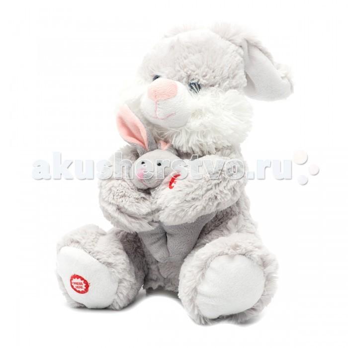 Интерактивная игрушка Fluffy Family Мама и малыш Зайка 26 см