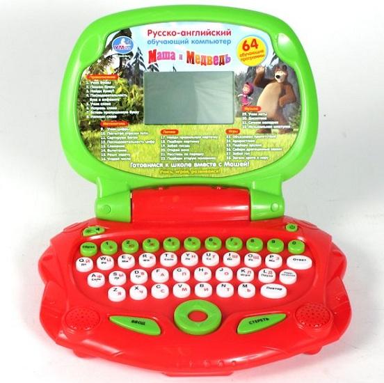 Умка Обучающий компьютер Маша и Медведь (64 программы)