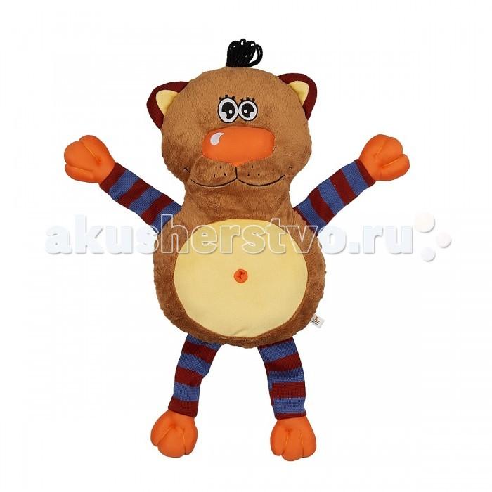 Мягкая игрушка Fluffy Family Подушка-обнимашка Кот 60 смПодушка-обнимашка Кот 60 смМягкая игрушка Fluffy Family Подушка-обнимашка Кот 60 см оригинальная игрушка в виде милого котенка с мягкими оранжевыми лапками.   Это не только аксессуар для сна, но и мягкая игрушка, с которой малыш не захочет расставаться. У кота две мордашки: одна с открытыми глазами, а вторая - с закрытыми. У него забавный черный хохолок на макушке и полосатые лапки.   Психологи советуют - если ребенок отправляется впервые в детский сад, пусть возьмет с собой игрушку, которая будет напоминать ему о доме. С таким другом легче успокоиться и адаптироваться к незнакомой обстановке.  Все материалы, использованные при создании игрушки, обладают гипоаллергенными свойствами, поэтому она прекрасно подойдет для вашего малыша.<br>