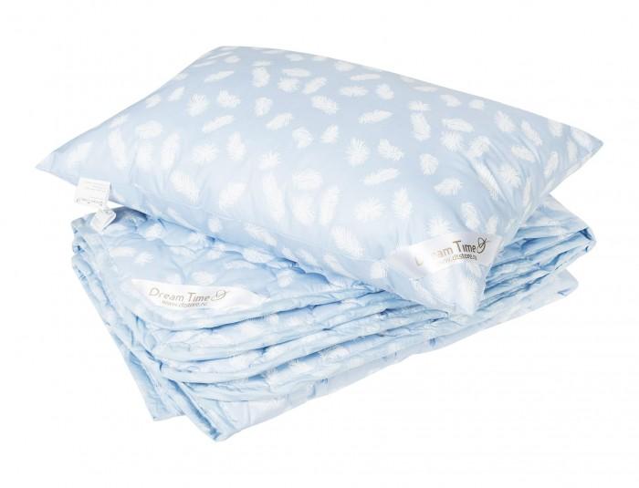 Одеяло Dream Time Лебяжий пух 100х135 и подушка 40х60 (хлопок)
