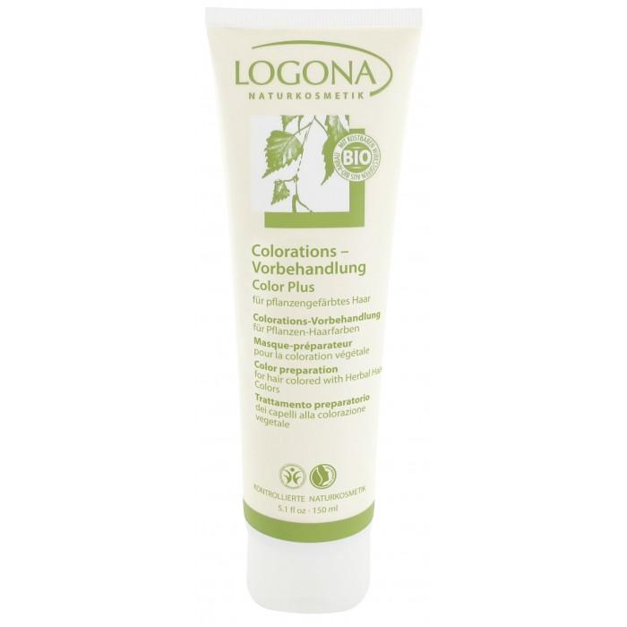 Logona Color Plus Средство для подготовки волос к окрашиванию 150 млColor Plus Средство для подготовки волос к окрашиванию 150 млLogona Color Plus Средство для подготовки волос к окрашиванию 150 мл .  Оптимальным образом подготавливает Ваши волосы к окрашиванию натуральными красками Logona. Особая формула с зеленой минеральной глиной и экстрактом березовых листьев тщательно очищает волосы от остатков средств ухода и стайлинга, частиц перхоти и излишков жира и действует так, что натуральные краски лучше ложатся на волосы. Необходимо для интенсивного равномерного результата окрашивания.   Способ применения Нанесите средство щеткой или расческой на сухие или влажные волосы, начиная от корней, прядь за прядью, и распределите по всей длине. Оставьте на 10-15 минут. Тщательно промойте волосы в большом количестве воды.  Состав вода, бентонит, спирт денат.*, глицерин, кокоглюкозид, ксантановая смола, экстракт березы *, эфирные масла**, лимонен** *контролируемое биологическое выращивание **натуральные эфирные масла.<br>