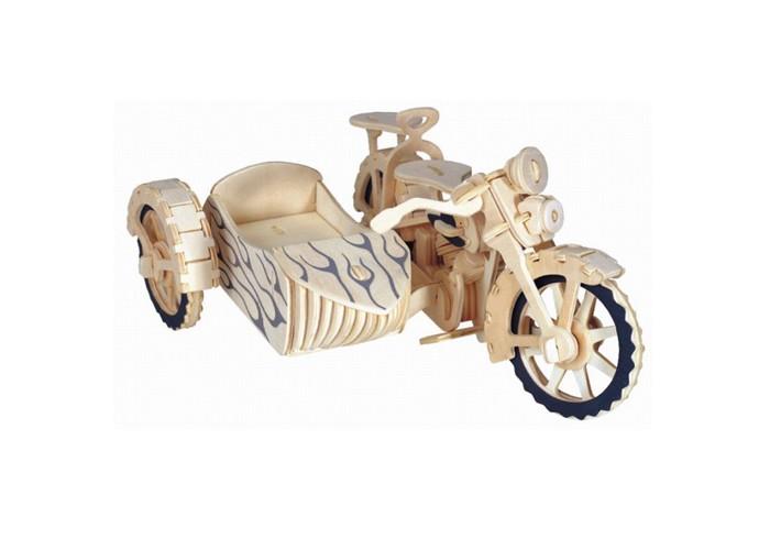 Конструктор МДИ Мотоцикл с люлькойМотоцикл с люлькойМДИ Мотоцикл с люлькой П145                       Сборная деревянная модель Транспорт - Мотоцикл с люлькой - это интересный и развивающий конструктор для детей. Модель состоит из нескольких деревянных деталей, которые нужно собрать между собой, согласно инструкции. Все детали изготовлены из прочной, экологически чистой древесины и хорошо обработаны. Мотоцикл с люлькой привлекает своим необычным дизайном и оригинальностью. Особенно удивляет прикрепленная к мотоциклу люлька, что делает деревянный транспорт очень уникальным.   Ребенок сможет возить своих игрушечных друзей, сажая одного пассажира в кресло мотоцикла, а другого - в люльку. Также малыш сможет добавить мотоциклу что - нибудь от себя, например, разукрасить модель на свое усмотрение, после чего можно склеить все детали клеем ПВА для лучшего крепления. Такая игровая деятельность поможет ребенку развить творческие способности, логическое мышление, мелкую моторику, а также научит терпению.<br>