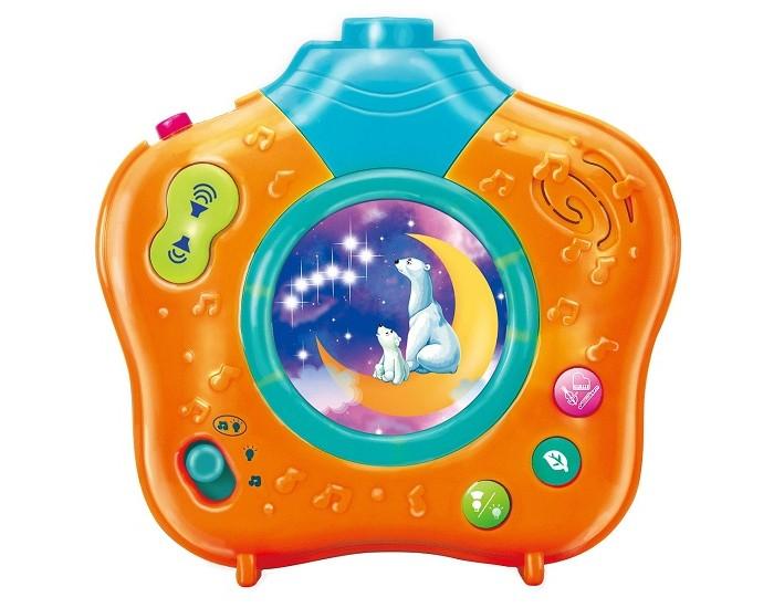 Умка Музыкальный ночник-проектор Волшебный мирМузыкальный ночник-проектор Волшебный мирМузыкальный ночник-проектор Умка Волшебный мир   Самые лучшие колыбельные песенки для вашего малыша. С помощью этой игрушки ваш ребенок сможет не только слушать музыку, но и звуки природы. Это успокоит ребенка, и он крепко заснет. У видеопроектора есть еще одна функция – функция ночника. Вы можете закрепить проектор на спинке кроватки ребенка (крепление в комплекте), установить таймер на 5, 10 или 15 минут и выбрать один из трех режимов работы устройства: ночник-проектор; ночник с музыкой; ночник с музыкой, звуками природы и проекцией.   В комплекте:   ночник  батарейки    Размер коробки (ДхШхВ): 53 х 24 х 39 см. Материал: высококачественная пластмасса.<br>