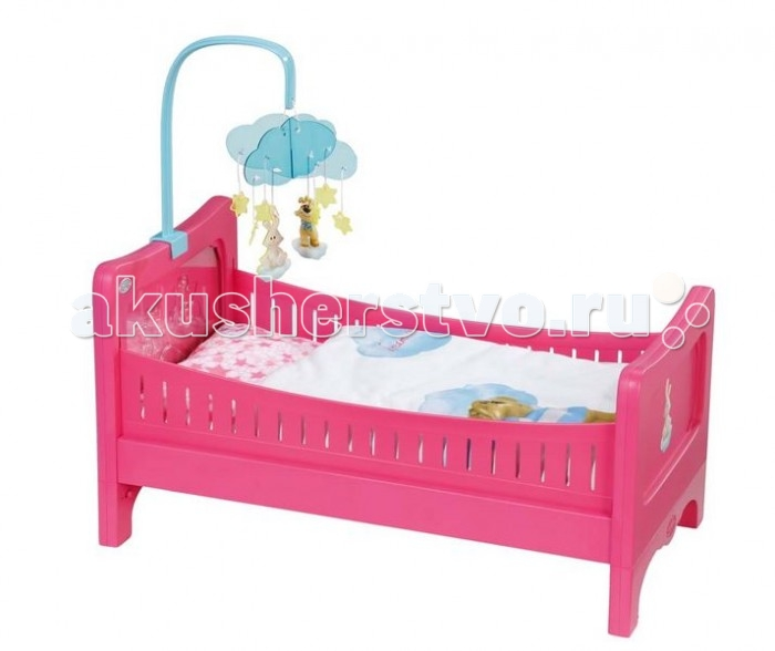 Кроватка для куклы Zapf Creation Baby born 49.5х12.7х32 см