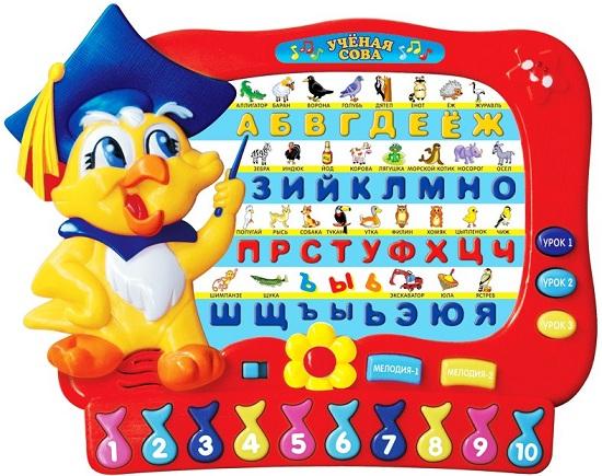 Обучающие плакаты Умка Обучающая игрушка Ученая сова