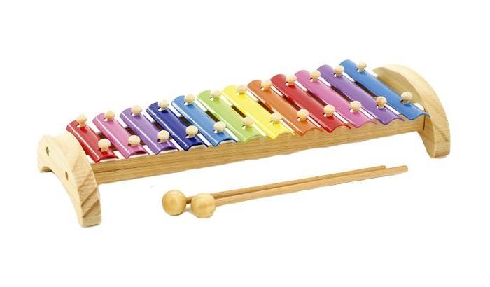 Музыкальная игрушка МДИ Ксилофон металлический 12 тонов