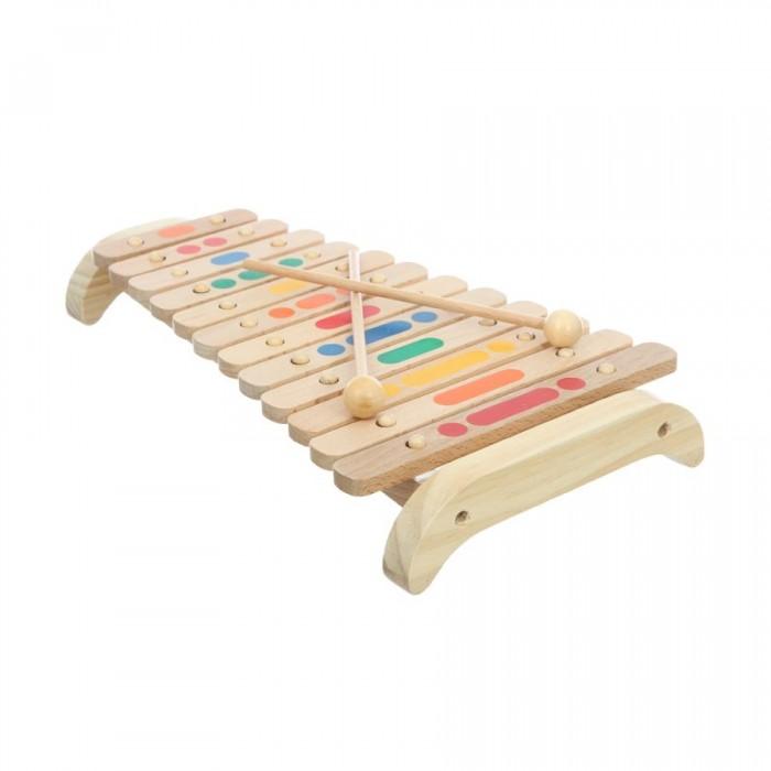 Музыкальная игрушка МДИ Ксилофон 12 тоновКсилофон 12 тоновМДИ Ксилофон 12 тонов Д046  Ксилофон - это музыкальный инструмент, играть на котором могут даже дети. Он сделан из дерева, благодаря чему звук получается мягким и глубоким. 12 тонов звучания обеспечиваются за счет 12 разноцветных пластин. Звуки ксилофона извлекаются с помощью 2 деревянных палочек, которые входят в комплект музыкального инструмента.  В отличие от металлофона, ксилофон издает более мягкий и глубокий звук. Если Вы хотели бы развить слух и музыкальные способности ребенка, но не готовы к постоянному звону и гаму - эта игрушка будет оптимальной. Кроме того, разноцветные клавиши послужат наглядным пособием для изучения цветов.  Длина палочек : 21 см<br>