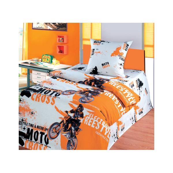 Постельное белье 1.5-спальное Непоседа Мотокросс 1.5-спальное (3 предмета)