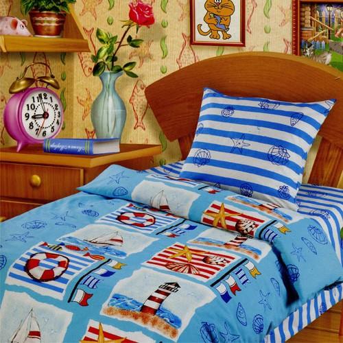 Постельное белье 1.5-спальное Непоседа Парусная регата 1.5-спальное (3 предмета)