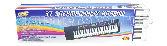 Музыкальная игрушка DoReMi Синтезатор 37 клавиш 54 см