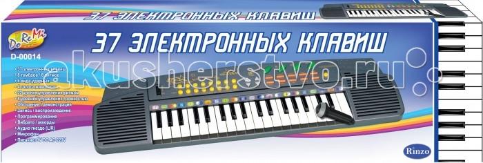 Музыкальная игрушка DoReMi Синтезатор 37 клавиш 62 смСинтезатор 37 клавиш 62 смDoReMi Синтезатор 37 клавиш 62 см привлечет внимание вашего ребенка и доставит ему много удовольствия от часов, посвященных игре с ним.  Особенности: Синтезатор имеет 37 музыкальных клавиш и множество кнопок, позволяющих добавлять различные звуковые эффекты при составлении мелодий, менять темп и ритм музыки.  Также можно произвести запись мелодий.  8 тембров/8 ритмов;  4 вида ударных;  4 голоса животных;  22 уровня управления ритмом;  8 уровней управления громкостью;  Обозрение/демонстрация;  Запись/воспроизведение;  Программирование;  Вибрато/аккорды;  Микрофон.  В комплект с синтезатором входит микрофон.  С помощью этого синтезатора ребенок сможет развить свои музыкальные способности и порадовать друзей и близких великолепным концертом. Порадуйте его таким замечательным подарком!<br>
