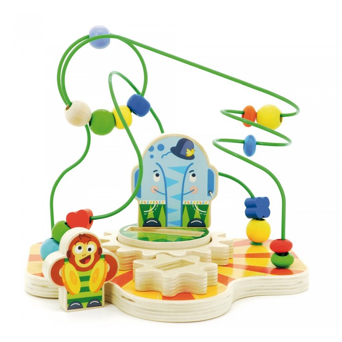 Деревянная игрушка МДИ Сортер лабиринт ЦиркСортер лабиринт ЦиркМДИ Сортер лабиринт Цирк Д381  Сортер-лабиринт Цирк представляет собой развивающую игрушку для малышей. Множество извилистых дорожек напоминает лабиринт, по которому ребенку предлагается пройти при помощи маленьких прикрепленных фигурок. Также сортер привлечет малыша к занятию и разовьет логику. Игрушка оформлена в цирковой тематике, она очень яркая и изготовлена из качественных нетоксичных материалов. Данная игрушка сортер-лабиринт поможет усовершенствовать мелкую моторику, цветовое и тактильное восприятия малыша, а также подарит ему много увлекательных игровых моментов.  Размер игрушки: 22 x 19 x 19 см.<br>