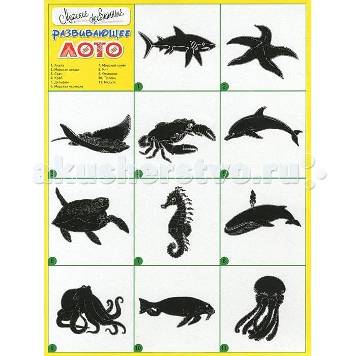 ДетИздат Развивающее лото Морские животные