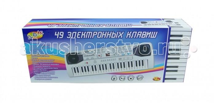 Музыкальная игрушка DoReMi Синтезатор D-00036 49 клавишСинтезатор D-00036 49 клавишDoReMi Синтезатор D-00036 49 клавиш привлечет внимание вашего ребенка и доставит ему много удовольствия от часов, посвященных игре с ним.  Особенности: Синтезатор оснащен регулятором громкости, благодаря которым вы не потревожите и домочадцев даже самых привередливых соседей, громкими звуками. Игра на музыкальных инструментах способствует развитию слуха и чувства ритма. Синтезатор (пианино электронное), 49 клавиши, с микрофоном, работает от встроенного адаптера 220V или 6 батареек тип D (не в комплекте). 16 звуков музыкальных инструментов, 16 темпов ритма, 8 звуков электронной барабанной установки, 6 песен, Запись, воспроизведение, Караоке, 16 уровней громкости, 32-х кратное увеличение темпа, Режим обучения, Автоматическое выключение, 2 цифровых дисплея.<br>