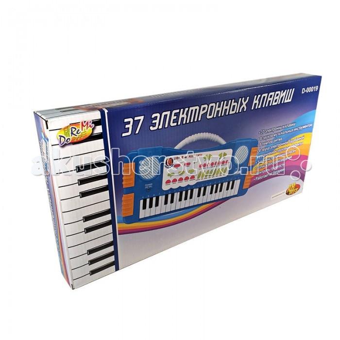 Музыкальная игрушка DoReMi Синтезатор D-00019(SD955) 37 клавишСинтезатор D-00019(SD955) 37 клавишDoReMi Синтезатор 37 клавиш привлечет внимание вашего ребенка и доставит ему много удовольствия от часов, посвященных игре с ним.  Особенности: Компактное пианино с красочным дизайном привлечет внимание вашего ребенка и поспособствует его желанию научится музыки.  Аккуратные клавиши специально для маленьких детских ручек.  Синтезатор оснащен регулятором громкости, благодаря которым вы не потревожите и домочадцев даже самых привередливых соседей, громкими звуками. Игра на музыкальных инструментах способствует развитию слуха и чувства ритма.  8 звуков музыкальных инструментов,  8 темпов ритма,  4 звука электронной барабанной установки и звуковые эффекты,  5 демонстрационных песен,  запись/воспроизведение,  контроль громкости.<br>