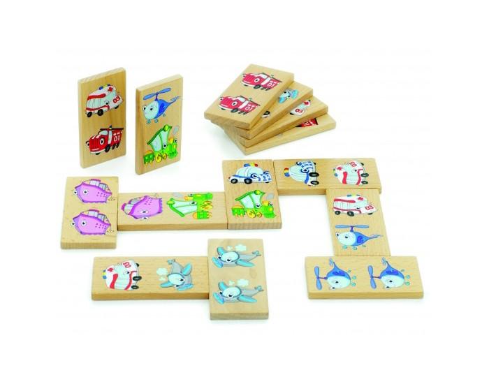 Деревянная игрушка МДИ Домино ТранспортДомино ТранспортМДИ Домино Транспорт Д393  Деревянное домино Транспорт от производителя МДИ представляет собой известную настольную игру в красочном оформлении. Вместо привычных точек, элементы нанесены цветные изображения, которые непременно вызовут интерес у маленького ребенка. Игра поможет развить у малыша внимательность, усидчивость и логическое мышление. Костяшки, изготовленные из качественного дерева, не поломаются и прослужат долго.<br>