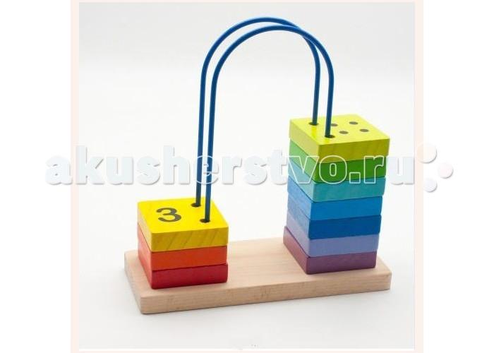Деревянная игрушка МДИ Счеты большиеСчеты большиеМДИ Счеты большие Д371  Развивающая игрушка представляет собой квадратные плитки, которые можно перемещать по проволоке, закрепленной к деревянной основе. Все плитки разного цвета, а на них изображены цифры. Плитки имеют все цвета радуги. Благодаря таким счетам, ребенок научится не только считать, но и сможет выучить цвета радуги по известному изречению про охотника и фазана.<br>