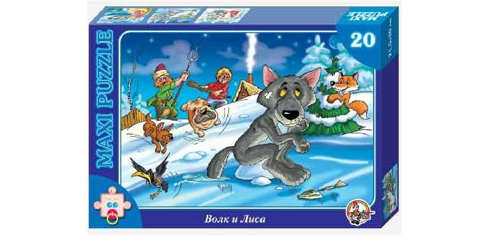 Десятое королевство Пазл Волк и лиса (20 элементов)Пазл Волк и лиса (20 элементов)Десятое королевство Пазл Волк и лиса (20 элементов)   Популярная занимательная игра, которая развивает мелкую моторику рук, память, внимание посредством собирания яркой и красочной картинки, состоящей из мелких деталей. Огромное разнообразие изображений никого не оставит равнодушным!  Особенности: Размер картинки - 21.5х30 см Количество элементов - 20 шт. Толщина картона - 1.25 мм<br>