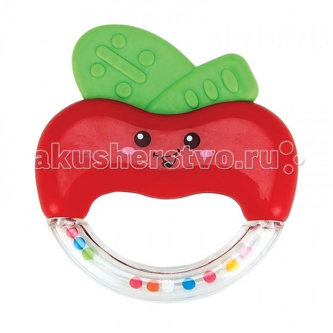 Погремушка Happy Baby прорезыватель Яблочко Apple Funпрорезыватель Яблочко Apple FunHappy Baby Погремушка-прорезыватель Яблочко Apple Fun поможет расти зубкам без слез. Развивает: познавательную активность; ловкость рук; восприятие и мышление; положительно влияет на эмоциональное состояние малыша. Шарики внутри прозрачной эргономичной ручки создают шумовой эффект.<br>