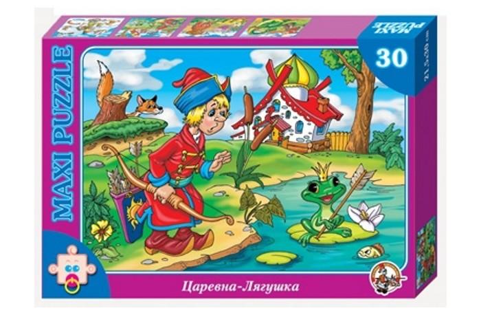 Десятое королевство Пазл Царевна лягушка (30 элементов)Пазл Царевна лягушка (30 элементов)Десятое королевство Пазл Царевна лягушка (30 элементов)   Популярная занимательная игра, которая развивает мелкую моторику рук, память, внимание посредством собирания яркой и красочной картинки, состоящей из мелких деталей. Огромное разнообразие изображений никого не оставит равнодушным!  Особенности: Размер картинки - 21.5х30 см Количество элементов - 30 шт. Толщина картона - 1.25 мм<br>