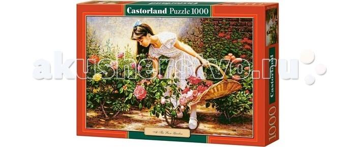 Castorland Пазл В саду роз 1000 элементовПазл В саду роз 1000 элементовМилая девушка прогуливается по прекрасному розовому саду, собирая цветы в изящную плетеную корзинку. Это пасторальная картина изображена на пазле от польского бренда Castorland. Головоломка отличается высоким качеством деталей, аккуратной резкой и яркими насыщенными цветами. Собирание пазла — занятие, которое объединяет всю семью и скрашивает вечера приятным досугом.  Основные характеристики:   Размер упаковки: 35 x 25 x 5 см Размер собранной картины: 68 x 47 см Размер одного элемента: 1.8 х 1.6 см Количество элементов: 1000 шт. Масса: 560 г<br>