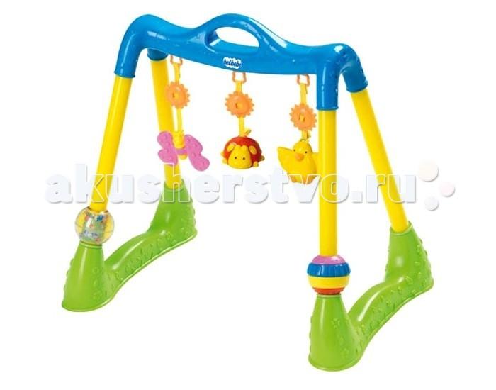 Игровой центр Clementoni Baby Веселый лесBaby Веселый лесРазвивающий комплекс Baby Clementoni Веселый лес - прекрасный набор развивающих игр для Ваших детей.    Особенности:   Дети могут играть на полу, в манеже или на кровати.   Очень просто собрать и переместить в другое место.   Развивающий комплекс Веселый Лес поможет развлечь Вашего ребенка, развить координацию и мелкую моторику.   Со съёмными деталями можно играть отдельно.     В комплекте:   снимающиеся детали  возможность установки любой высоты подвески  2 шара.<br>