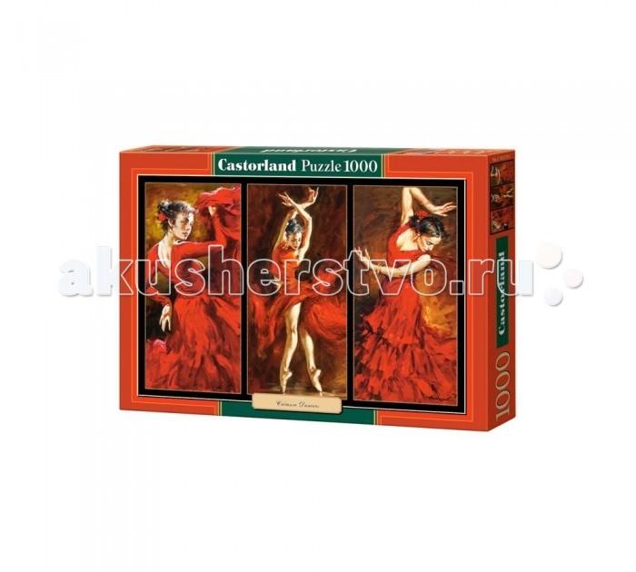 Castorland Пазл Танцы 1000 элементовПазл Танцы 1000 элементовТанцы - триптих с прекрасной танцовщицей в красном платье, танцующей фламенко. Эту картину можно собрать из 1000 элементов этого пазла. Результат, собранный за несколько часов, поразит и порадует всех. Собранный пазл можно склеить, вставить в рамку и украсить ей интерьер комнаты (рамка и клей не входят в комплект). Высокое качество печати и материалов отличает все пазлы Castorland. Детали не деформируются и не ломаются при сборке, и каждая из них подходит только на свое место, идеально соединяясь с соседними.  Основные характеристики:   Размер упаковки: 35 x 25 x 5 см Размер собранной картины: 68 x 47 см Размер одного элемента: 1.8 х 1.6 см Количество элементов: 1000 шт. Масса: 560 г<br>