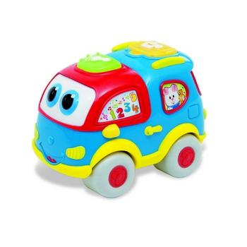 Clementoni Baby Говорящий грузовичокBaby Говорящий грузовичокГоворящий грузовичок Baby Clementoni - это интерактивная игрушка, помогающая открыть ребенку мир цифр и букв.   Яркие цвета и забавные звуки способствуют развитию малыша.   Питание от двух батареек АА (установлены).<br>
