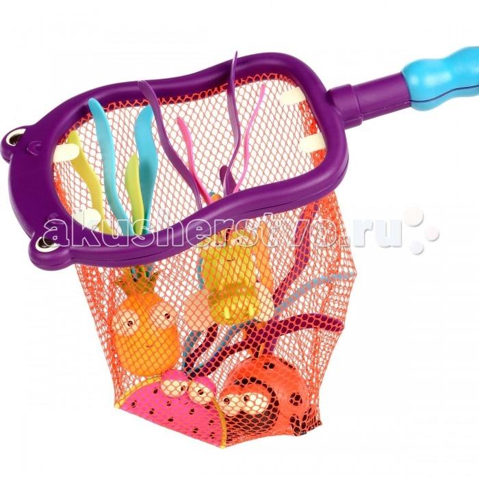 Battat Набор игрушек для ванной Бегемот 4 игрушки и сачок