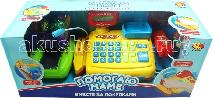 ABtoys Помогаю Маме Касса эл/мех в наборе с продуктами и аксессуарами со звуком PT-00066(34368)