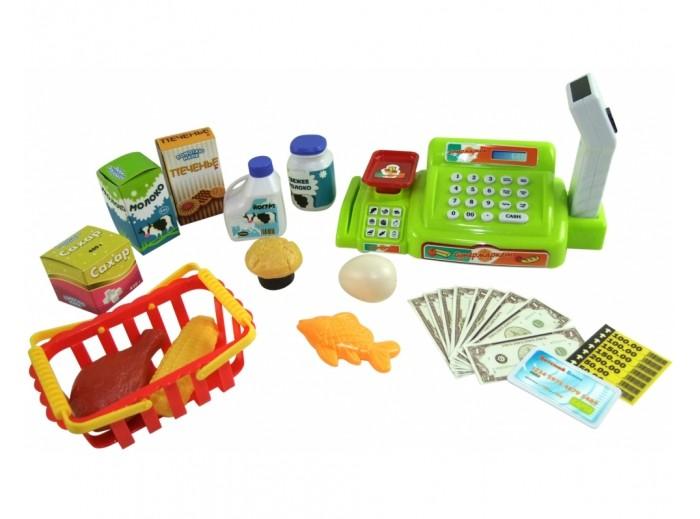 ABtoys Помогаю Маме Касса эл/мех в наборе с продуктами в коробке