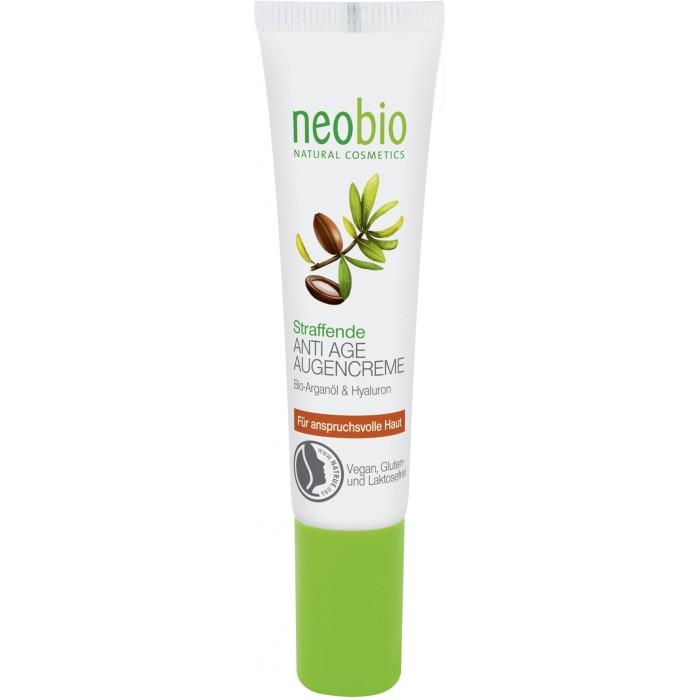 Neobio Разглаживающий крем вокруг глаз 15 млРазглаживающий крем вокруг глаз 15 млNeobio Разглаживающий крем вокруг глаз 15 мл.  Избавьтесь от морщинок вокруг глаз с Разглаживающим кремом вокруг глаз от Neobio! Его ультралёгкая текстура мгновенно впитывается, оставляя ощущение увлажненности, тонуса и комфорта. Лечебный состав на основе растительного глицерина, био-масел ши и арганы, а также гиалуроновой кислоты наполняет эпидермис влагой и питательными компонентами, регенерируя клетки и разглаживая верхние слои кожи.  Разглаживающий крем вокруг глаз: быстро впитывается и позволяет наносить макияж уже через несколько секунд провоцирует лимфодренаж и улучшаем микроциркуляцию, благодаря чему устраняет отеки, некрасивые темные круги и другие проявления усталости кожи отлично увлажняет, снимает сухость, защищает эпидермис от потери влаги и выравнивает рельеф кожи борется с морщинками, повышает тонус кожи. Рекомендации к использованию: средство подходит для ежедневного увлажнения увядающей кожи вокруг глаз.  Активные компоненты: Воск сумаха – мгновенно смягчает кожу и прекрасно увлажняет. Образует на нежных веках тончайшую неощутимую пленку, которая защищает эпидермис от вредных воздействий среды Масло виноградных семян – питает кожу, наполняя клетки витаминами A и E. Восполняет потерю влаги и кожного жира после очищения со специальными средствами. Помогает разгладить морщинки и подтянуть кожу вокруг глаз. Способ применения: распределите крем на очищенной коже вокруг глаз круговыми движениями. Нежно массировать подушечками пальцев до полного впитывания. Процедуру проводите утром и вечером.  Состав: Вода, Спирт денатурированный* , Соевое масло*, Масло семян дерева ши*, Полиглицерил-3-дицитрат/стеарат, Масло семян какао*, Масло семян винограда, Глицерин, Цетеариловый спирт, Изоамиллаурат, Масло косточек абрикоса*, Воск сумаха, Ксантановая смола, Дикрахмалфосфат, Натрия стеароилглютамат, Гидролизованный экстракт гибискуса, Натрия лактат, Витамин Е, Молочная кислота, Декстрин,