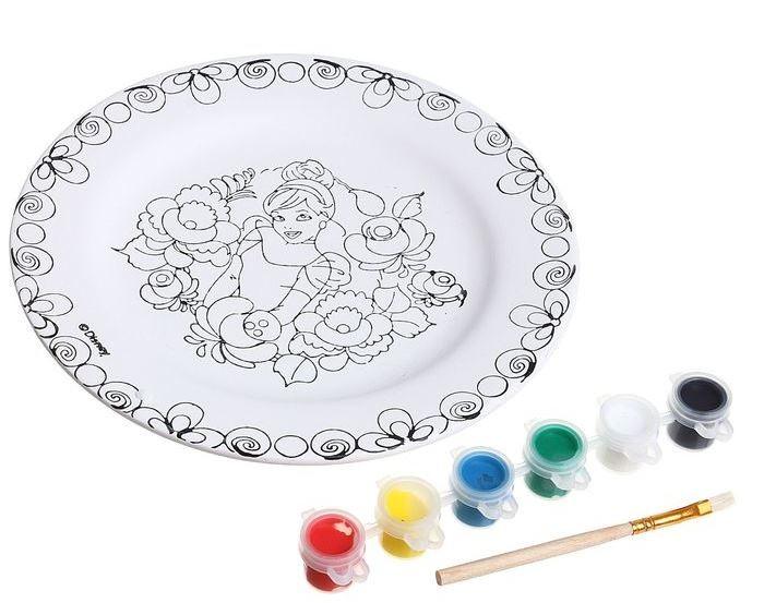 Disney Набор для росписи керамической тарелки Золушка