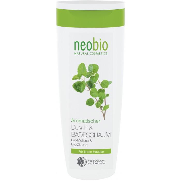 Neobio пена для душа и ванны с био-мелиссой и лимоном 250 млпена для душа и ванны с био-мелиссой и лимоном 250 млNeobio пена для душа и ванны с био-мелиссой и лимоном 250 мл.  Пена для душа с био-мелиссой и лимоном подходит для всех типов кожи. Мягкие моющие вещества нежно и бережно очищают кожу. Натуральная формула с био-мелиссой и био-экстрактом лимонной цедры интенсивно питает и увлажняет кожу. Пышная, мягкая пена дарит коже нежный ароматом натуральных духов.  Применение: подходит для принятия душа и принятия расслабляющей ванны. В качестве геля для душа: нанесите на влажную кожу, вспеньте, смойте водой. В качестве пены для ванны: добавьте в ванну рекомендуемая температура воды 32-38°С.  Состав: вода, лаурилглюкозид, натрия кокосульфат, кокоглюкозид, инулин, глицерин, бетаин, экстракт мелиссы*, экстракт цедры лимона*, лимонная кислота, натрия хлорид, натрия пирролидонкарбонат, глицерилолеат, сорбат калия, спирт, эфирные масла**, цитраль**, лимонен**, линалоол**, гераниол**, цитронеллол** Консервируется собратом калия. *контролируемое биологическое выращивание **натуральные эфирные масла.<br>