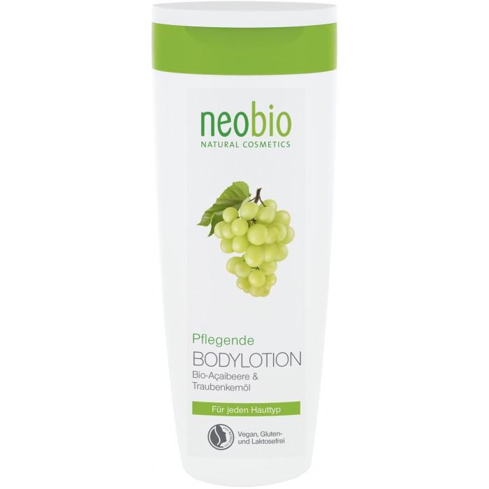 Neobio Увлажняющий лосьон для тела 250 млУвлажняющий лосьон для тела 250 млNeobio Увлажняющий лосьон для тела 250 мл.  Neobio увлажняющий лосьон для тела с био-алоэ и био-асаи. Сохраняет оптимальный уровень увлажненности кожи. Приятная текстура лосьона для тела с маслом био-ши и био-соевым маслом идеальна для полноценного ухода за всеми типами кожи. Экстракты био-алоэ и био-асаи придают коже мягкость, гладкость и эластичность. После применения лосьона на теле остается легкий свежий аромат.  Применение: Массажными движениями нанести на кожу тела.  Состав: Вода, Спирт денатурированный 10,9%, Соевое масло*, Глицерин, Глицерилстеаратцитрат, Масло семян дерева ши*, Масло семян винограда, Масло миндаля сладкого, Сок листьев алоэ вера*, Изоамиллаурат, Ксантановая смола, Витамин Е, Натрия лактат, Порошок плодов капустной пальмы*, Масло семян подсолнечника*, Молочная кислота, Лимонная кислота, Этил кокоил аргинат пирролидонкарбоновой кислоты, Отдушка ароматизатор, эфирные масла**, Линалоол**, Лимонен**, Гераниол**, Эвгенол** . *контролируемое биологическое выращивание **натуральные эфирные масла.<br>